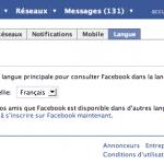 Facebook en français